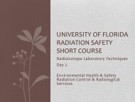 Lab Safety Checklist - University of Florida
