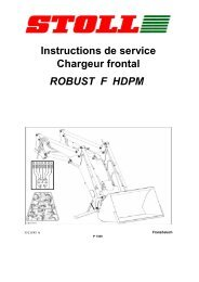 ROBUST F HDPM Instructions de service Chargeur frontal - Stoll
