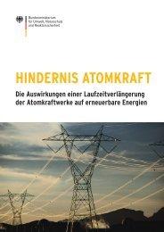 Hindernis Atomkraft - Die Auswirkungen einer ... - BMU