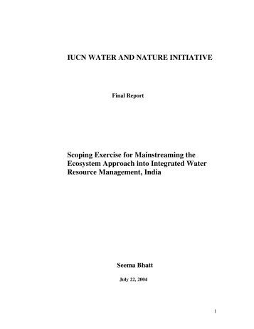 IUCN WATER AND NATURE INITIATIVE Scoping Exercise for ...