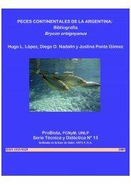 Brycon orbignyanus - Facultad de Ciencias Exactas, Físicas y ...