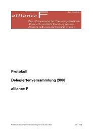 Protokoll Delegiertenversammlung 2008 alliance F