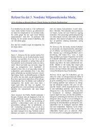 Referat fra det 5. Nordiske Miljømedicinske Møde, Soria Moria ved ...