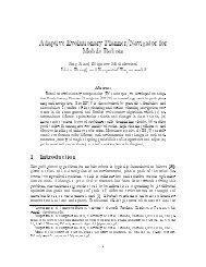 Adaptive Evolutionary Planner/Navigator for Mobile ... - CiteSeerX