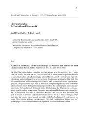 Botanik und Naturschutz in Hessen