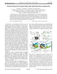 Electrical Pump-and-Probe Study of Spin Singlet-Triplet Relaxation ...
