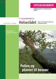Pollen og planter til besvær - Helsedirektoratet