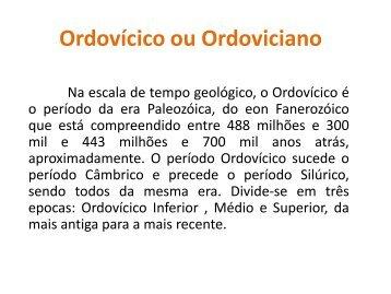 Período Ordovícico - Webnode