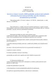 nařízení vlády č. 495/2001 Sb., kterým se stanoví rozsah a bližší ...