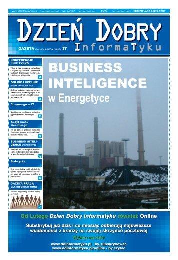 BUSINESS INTELIGENCE - Dzień Dobry Informatyku