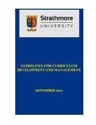 guidelines for curriculum development and management