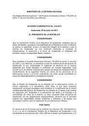 Acuerdo Gubernativo No. 216-2011 Reforma Acuerdo Gubernativo ...