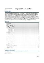 Årsplan 2009 – UVfakultet - Det utdanningsvitenskapelige fakultet