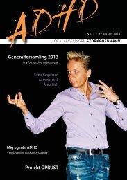 Generalforsamling 2013 Projekt OPRUST - ADHD: Foreningen