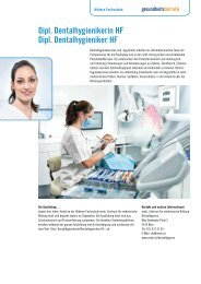 Dipl. Dentalhygienikerin HF Dipl. Dentalhygieniker HF