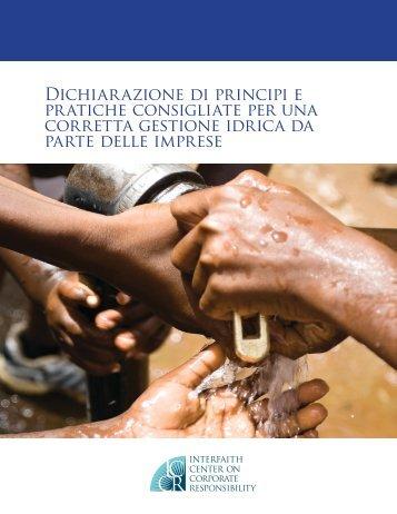 Dichiarazione di principi e pratiche consigliate per una ... - Etica SGR