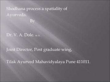 Shodhana- a spetiality of Ayurveda - Techno Ayurveda