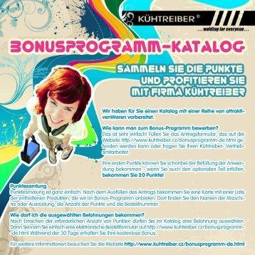 Bonusprogramm-Katalog Kühtreiber