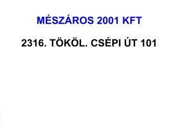 akció - Mészáros 2001 Kft