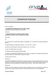 CONVENTION FFVB/UNSS - Extranet FFVB