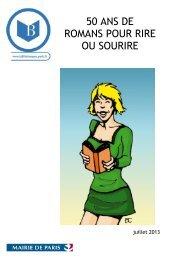 50 ans de romans pour rire ou sourire / sélection réalisée à la ...