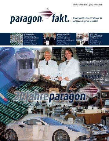 Unternehmenszeitung der paragon AG paragon AG corporate ...