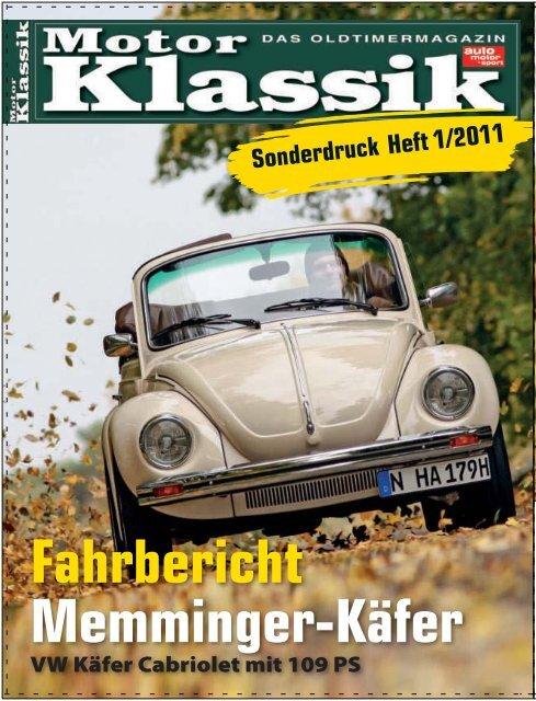 MOTOR KLASSIK 01/2011 - Memminger Feine Cabrios