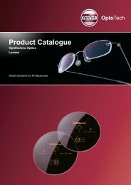 Download Catalogue Ophthalmic Lenses - OptoTech