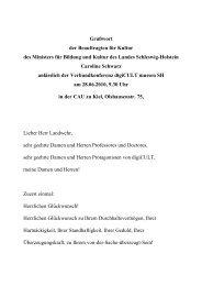 Grußworte Caroline Schwarz, Beauftragte für Kultur ... - digicult-sh.de