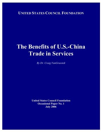 The Benefits of U.S.-China Trade in Services - U.S. Council for ...