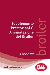 Supplemento Prestazioni & Alimentazione del Broiler - Cobb