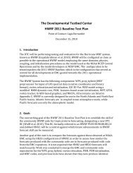 The Developmental Testbed Center HWRF 2011 Baseline Test Plan