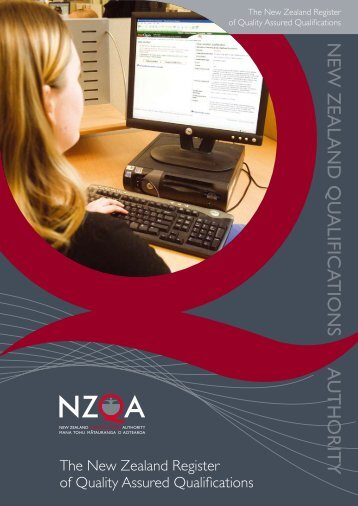 The New Zealand Register of Quality Assured Qualifications - NZQA