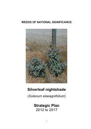 Silverleaf nightshade Strategic Plan - Weeds Australia