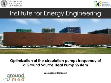 Institute for Energy Engineering - GROUND-MED project