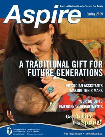 Aspire: Spring 2009 - Winnipeg Regional Health Authority