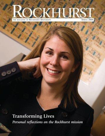 Transforming Lives - Rockhurst University