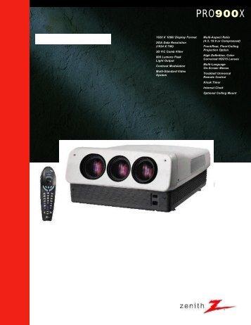 Zenith 900 Brochure/Spec Sheet - CurtPalme.com