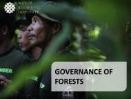 Critical issues in forest governance