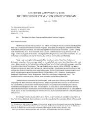 statewide campaign to save the foreclosure prevention services ...