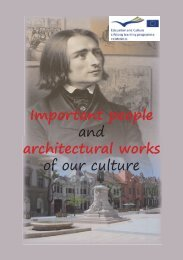 Important people and architectural works of our ... - I. Béla Gimnázium