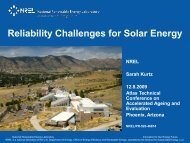 Reliability Challenges for Solar Energy (Presentation) - NREL