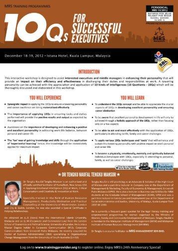 1.05 - Training Provider Malaysia
