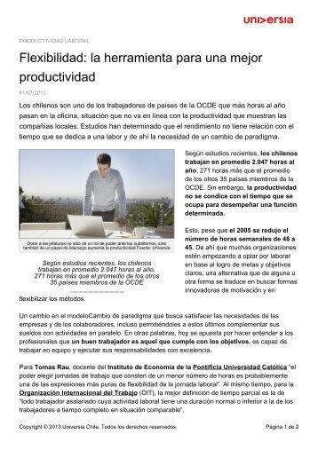 Flexibilidad: la herramienta para una mejor productividad - Noticias ...