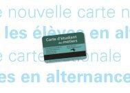 A5 carte étudiant des métiers ok.indd - Ministère du Travail, de l ...