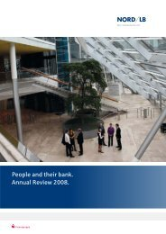 People and their bank. Annual Review 2008. - NORD/LB