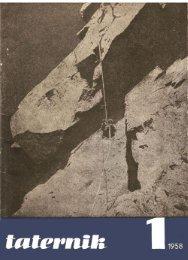 Taternik 1 1958 - Polski Związek Alpinizmu