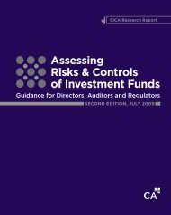 Assessing Risks & Controls of Investment Funds - Canadian Institute ...