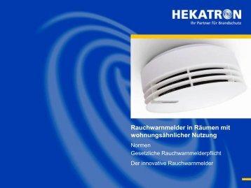 Rauchwarnmelder in Räumen mit wohnungsähnlicher Nutzung - Security ...