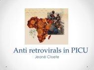 Jeane Cloete ARVs in PICU
